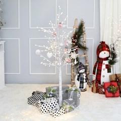 크리스마스트리 자작나무트리 LED 데코트리 화이트핑크 1.6M 풀세트