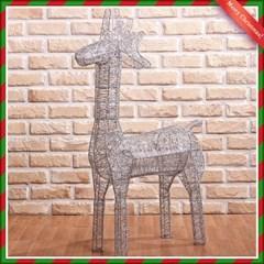 100cm 실버 크리스마스 반짝이 사슴 장식