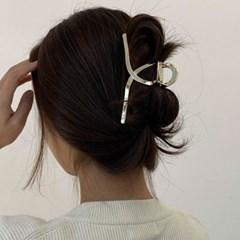 [2 color] 꼬임 메탈 미니 긴머리 집게핀 왕삔