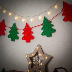 크리스마스 패브릭 가렌드(트리)/성탄 트리 벽장식