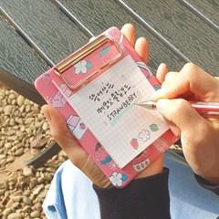 부리 뜯어쓰는 메모잇 클립보드 미니 - 딸기
