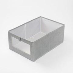투명창 오픈형 부직포 옷정리함/ 패브릭 리빙박스