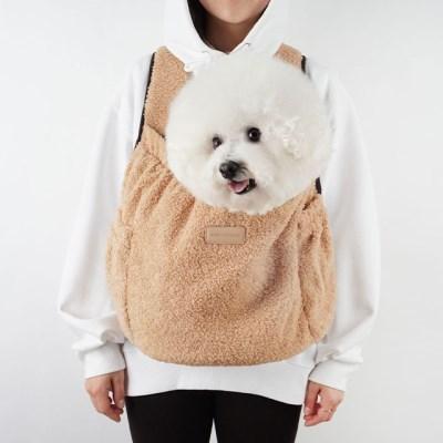 강아지앞가방 강아지백팩 허그프론트 덤블 베이지_(1266204)