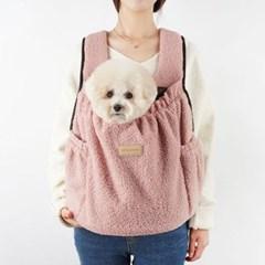 강아지앞가방 강아지백팩 허그프론트 덤블 핑크_(1266205)