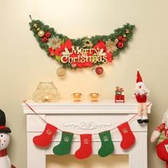 120cm 스토리 크리스마스 가렌드/성탄절 벽장식 트리