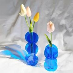 Blue Circle Acrylic Vase Set