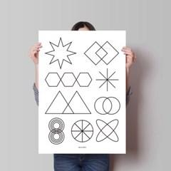 수학왕 M 유니크 인테리어 디자인 포스터 학원 공부