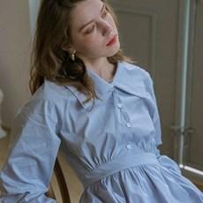 [르니나] MONICA puff sleeve dress [BL]