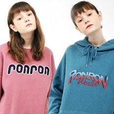 [1/19예약][1+1]PIGMENT LOGO HOODIE+BOUCLE POINT SWEATSHIRT