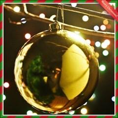 골드 유광볼 크리스마스 트리 장식 14cm
