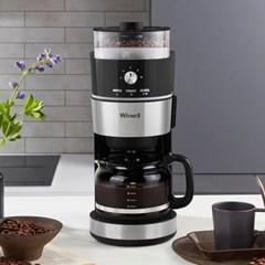 위즈웰 그라인드앤드립 커피머신기 가정용 홈카페 WC4131