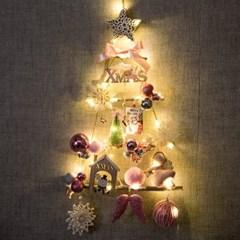 LED벨벳천사벽걸이우드트리 60cmP 크리스마스 TRHMES