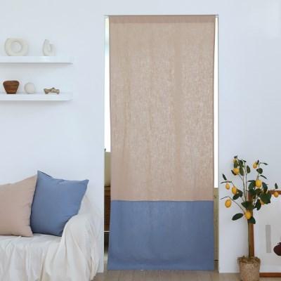 유노야 릴리 린넨베이지 가리개 커튼 (85 x 200 cm)