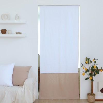 유노야 릴리 린넨화이트 가리개 커튼 (85 x 200 cm)