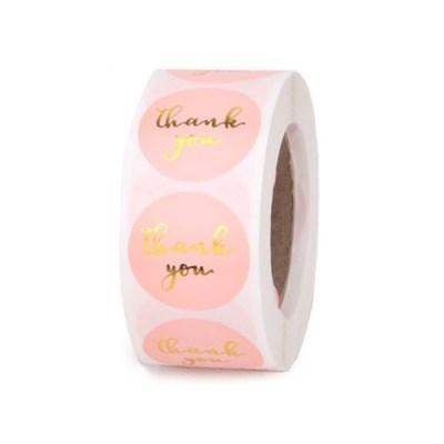 땡큐 핑크 벌크팩 라벨 소 (500개)