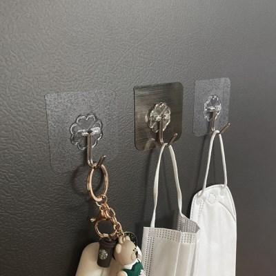현관 문 마스크 걸이 걸이대 투명매직후크 벽에 붙이는 고리