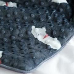 정전기 방지, 항균가공 북극곰 엠보 극세사 두겹 대형 담요 4size