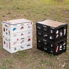 온유라이프 캠핑 폴딩박스 테이블 접이식 수납 감성캠핑 세트