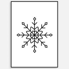 겨울 크리스마스 그림 패브릭 인테리어 포스터 액자_눈꽃