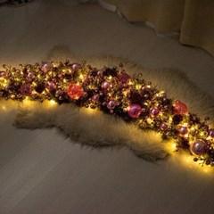 LED글로시핑크그레이가렌드 150cmP 크리스마스 TRWGHM