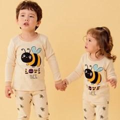 따) 노랑꿀벌 아동 오가닉 실내복-주니어까지