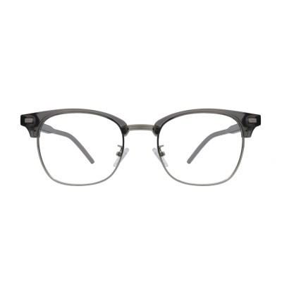 Torn GRAY CRYSTAL 오버사이즈 투명 하금테 안경