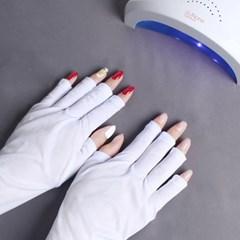 UV 자외선 차단 네일장갑 네일아트 손 손등 보호 장갑 젤네일 용품