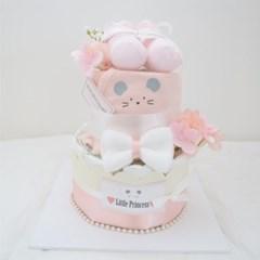 핑크 마이티 2단 기저귀케익