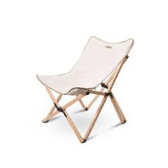 Qvien 캠핑 원목 우드 캔버스 의자