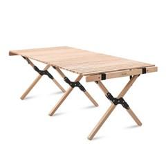 Qvien 캠핑 원목 우드 롤 테이블 120cm