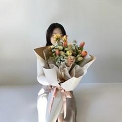 [생화] '지금 가장 예쁜꽃을 담아' 대형믹스 꽃다발