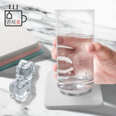 받치미 1+1 규조토 컵받침 티코스터