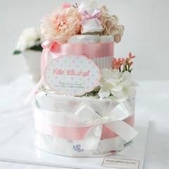 핑크 앙쥬 2단 기저귀케익