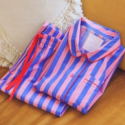 밴도 인디고 & 슬리피 핑크 파자마 잠옷 홈웨어