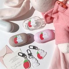 딸기토끼 버즈케이스+키링세트