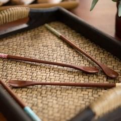 컬러 나무 롱 티스푼(색상선택)