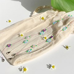leaf flower mask strap (4colors)