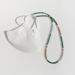 beeds mask strap (green)