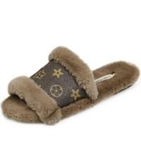 kami et muse Toe open fur slippers_KM20w135