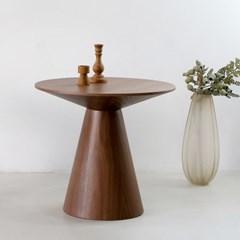 [포커스인가구] 우노 라운드 테이블 / 월넛무늬목