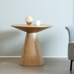 [포커스인가구] 우노 라운드 테이블 / 에쉬무늬목