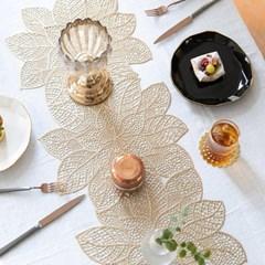 PVC 메탈릭 꽃 테이블 러너(2color)_(2069469)