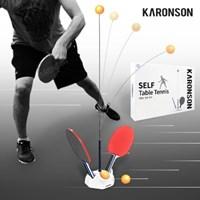 카론슨 셀프탁구 운동 연습 놀이 연습기 리턴볼 용품 세트