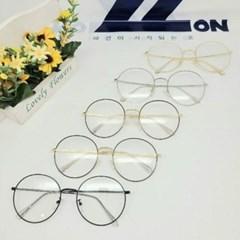 금테 은테 가벼운 도수없는 투명 블랙 실버 패션 안경