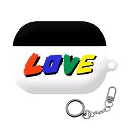 몬드몬드 LOVE 에어팟 프로 케이스 하드 커버 키링 포함
