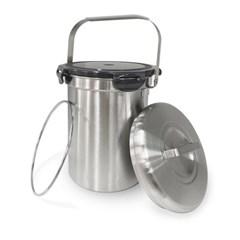 올품락 국산스텐 음식물쓰레기통 2.9L스텐+밀폐SET