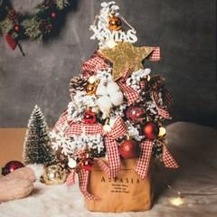 라마스 크리스마스 눈꽃 미니트리 앵두전구세트(레드)