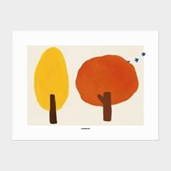 [카멜앤오아시스] Autumn Trees 가을 단풍 나무 포스터