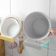 주방 욕실용품 세숫대야걸이 정리대 다걸어 거치대 2개 1set