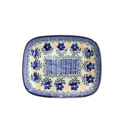 폴란드그릇 아티스티나 라운드직사각접시 소 패턴1196